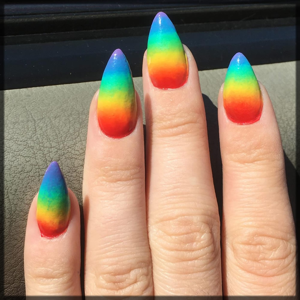 Rainbow nail art designs