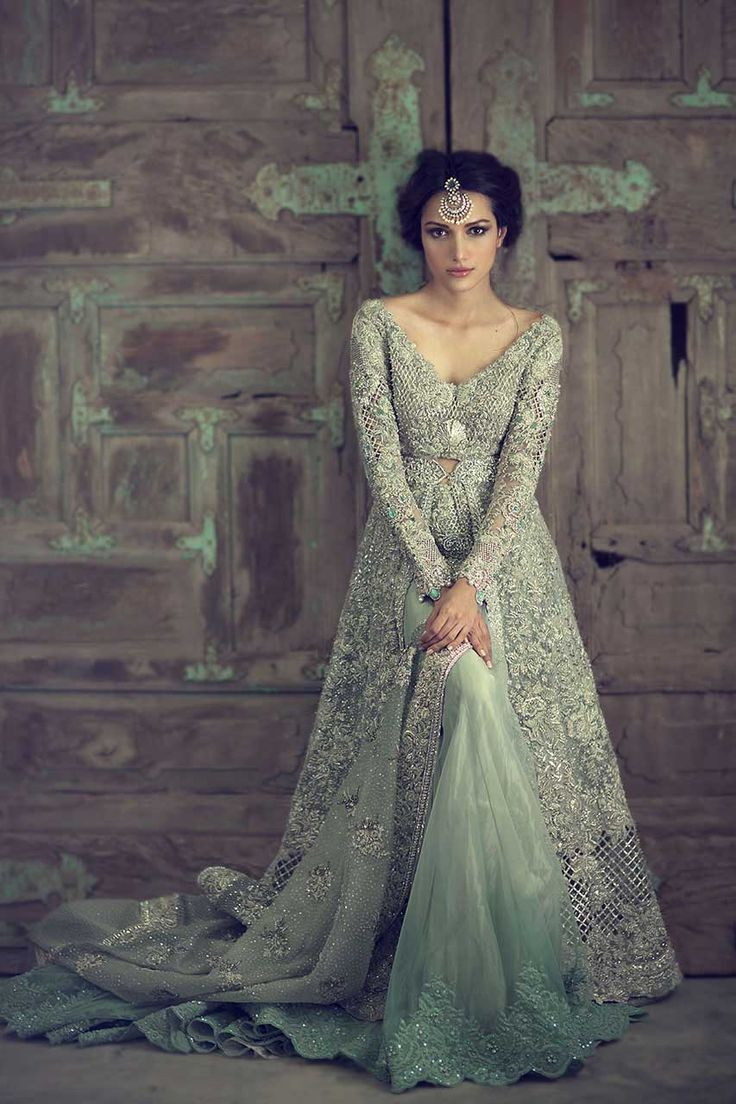 Sky blue Pakistani gowns