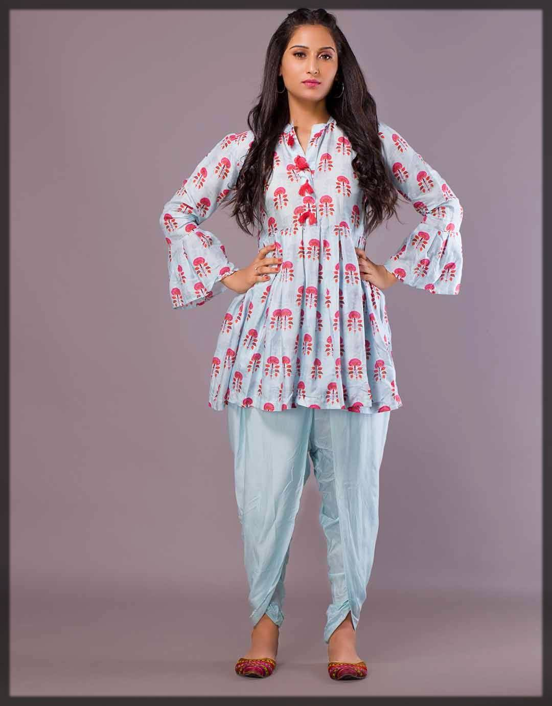amazing frock style with classic bottoms