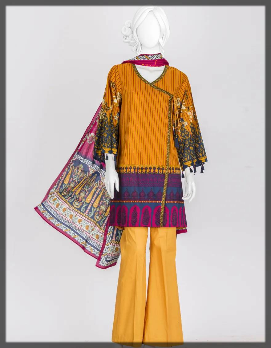 angrakha style pakistani dresses with bell bottoms