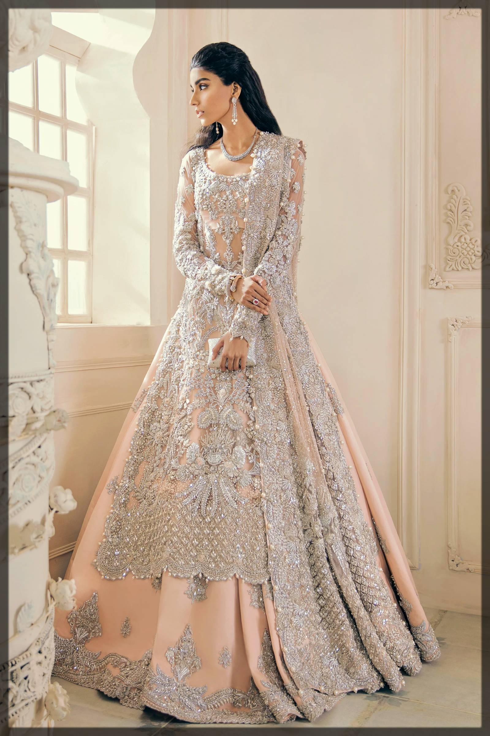 beautiful dress for nikkah bride by elan bridal dresses collection