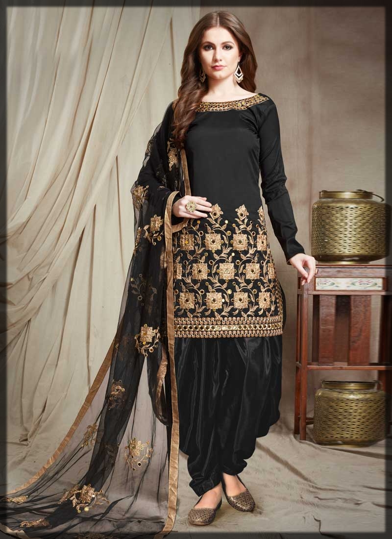 black patiala shalwar