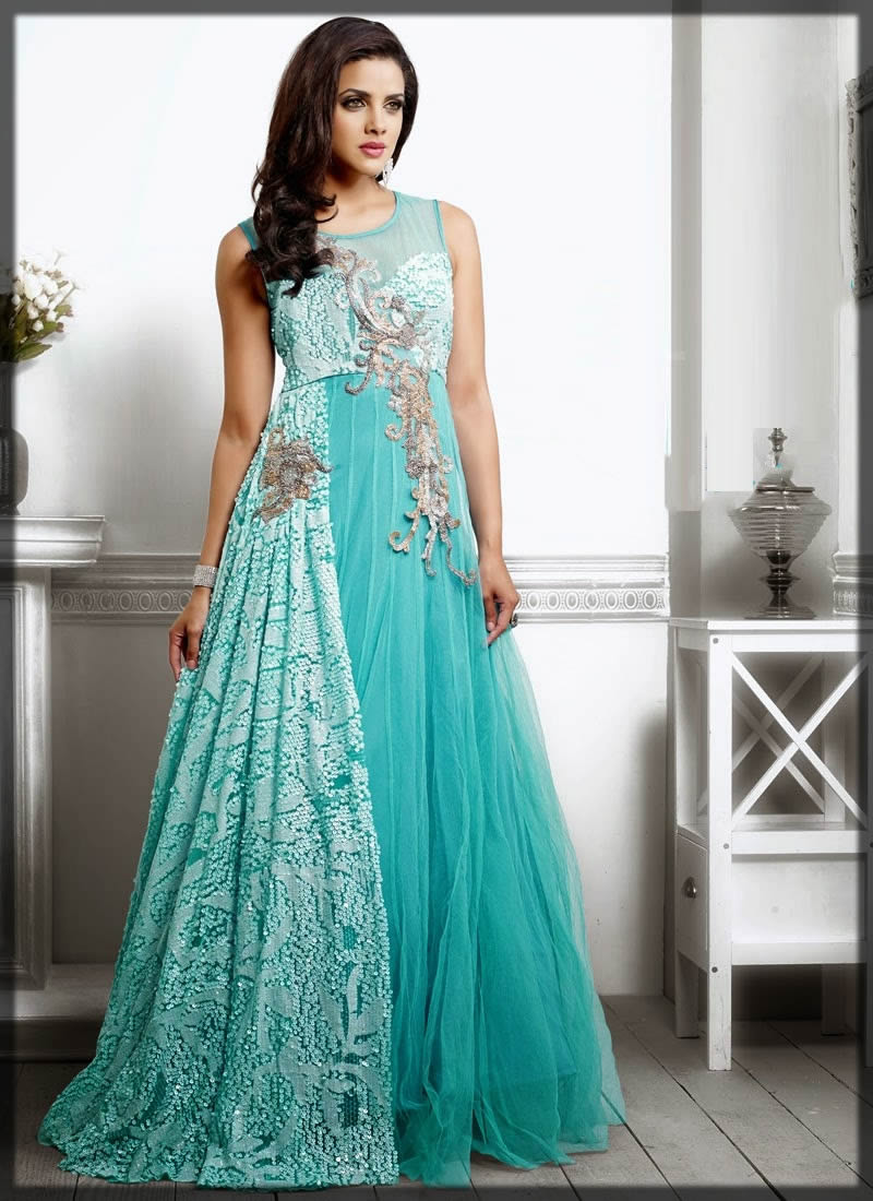 blue net maxi designs