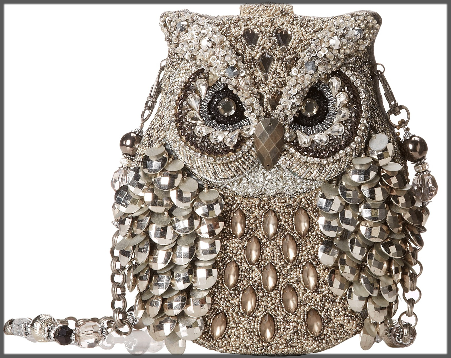 owl style bridal clutches