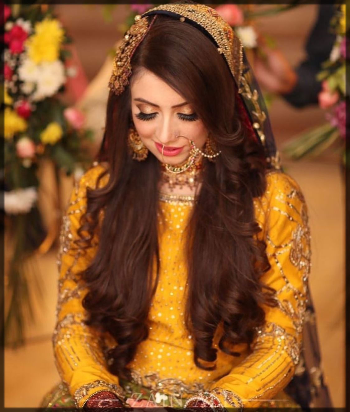 bridal mehndi hairstyles