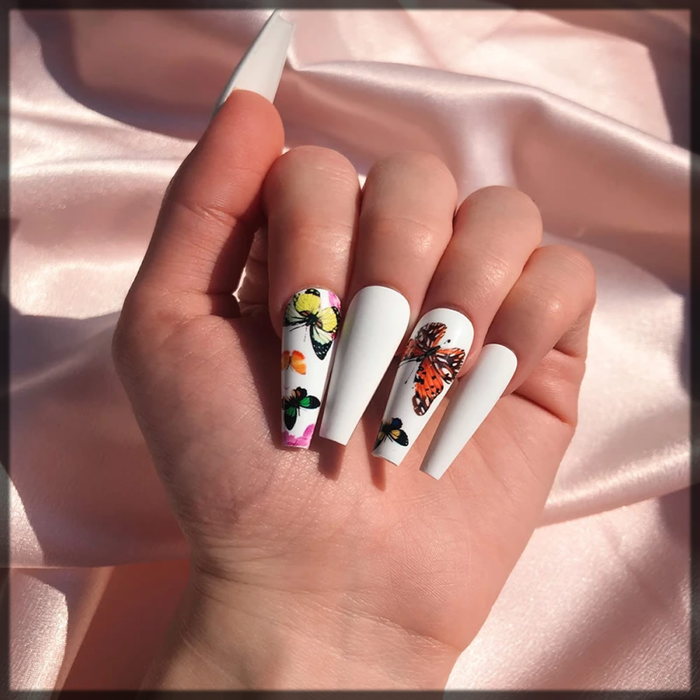 butterfly nail art designs
