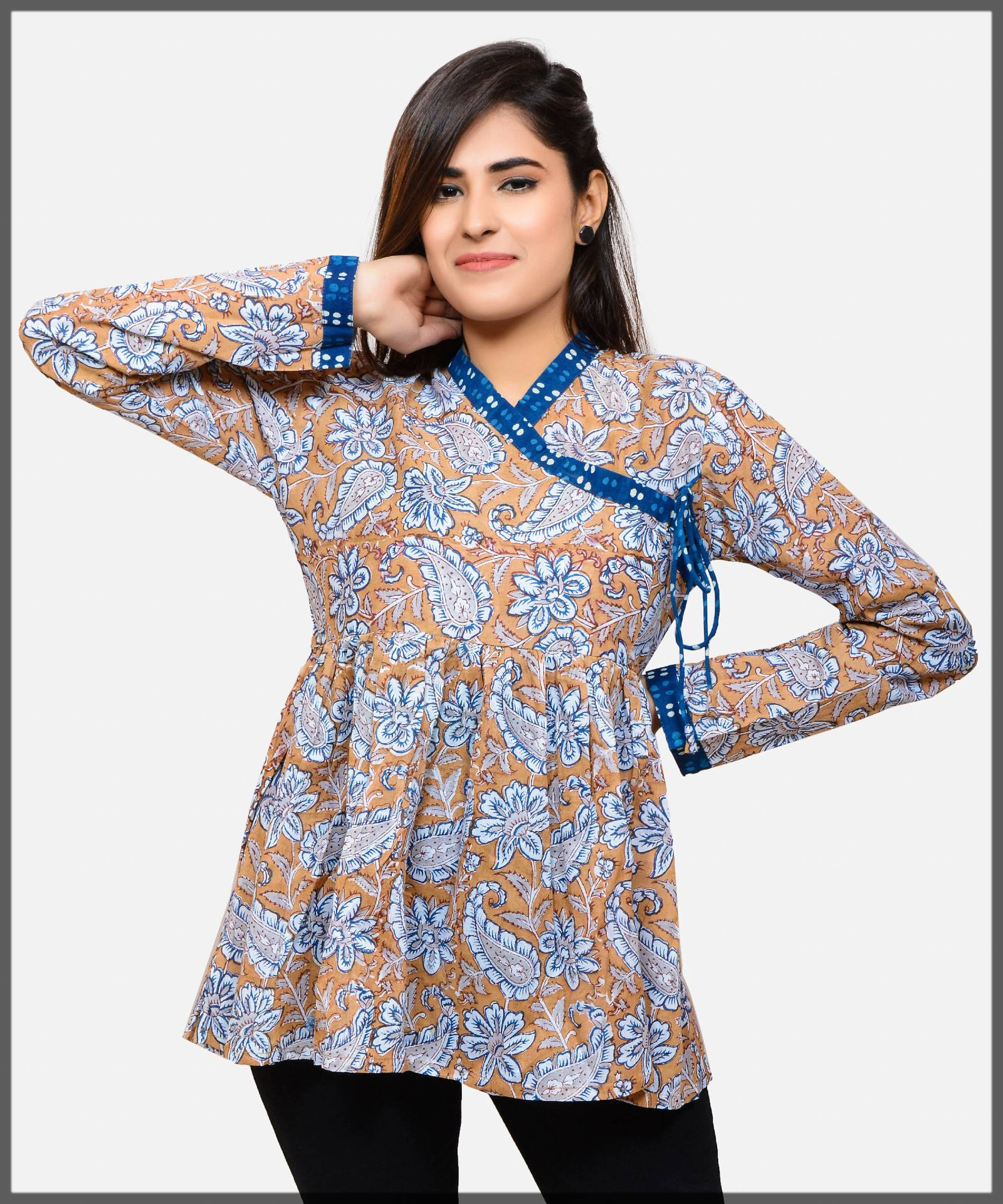 casual angrakha style top or tunic