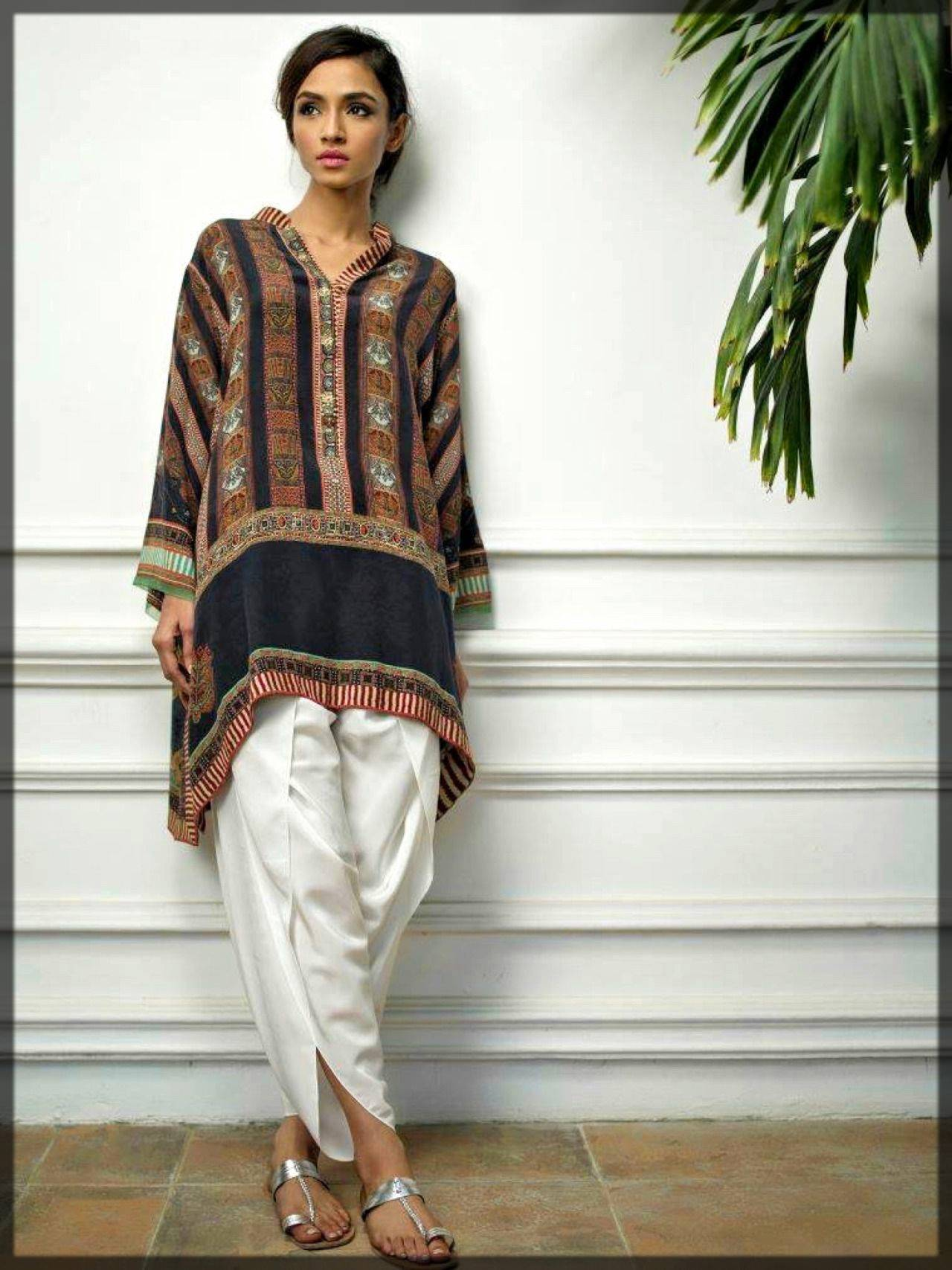 casual dresses with tulip pants in pakistan