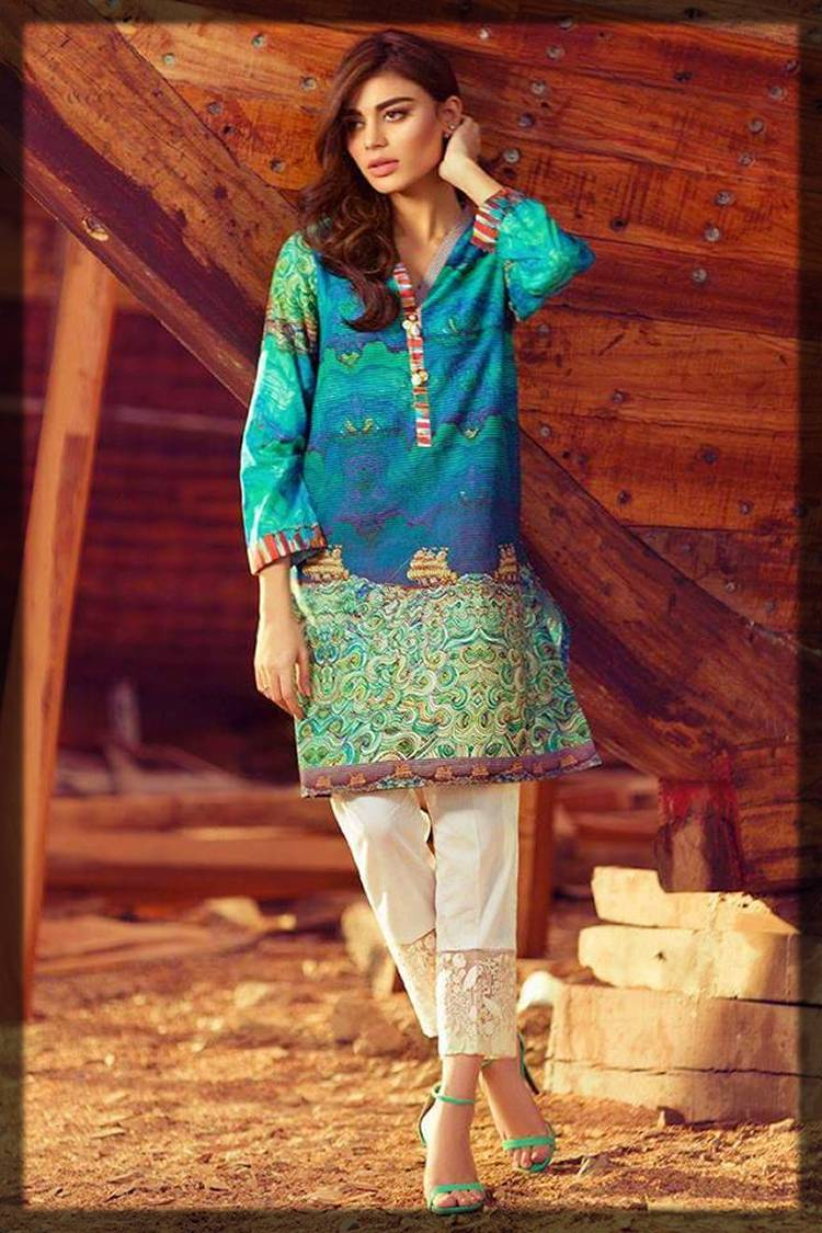 casual silk tunic shirt with digital print