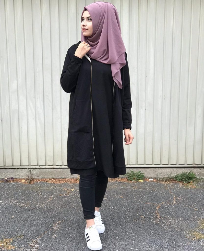 casual style of hijab