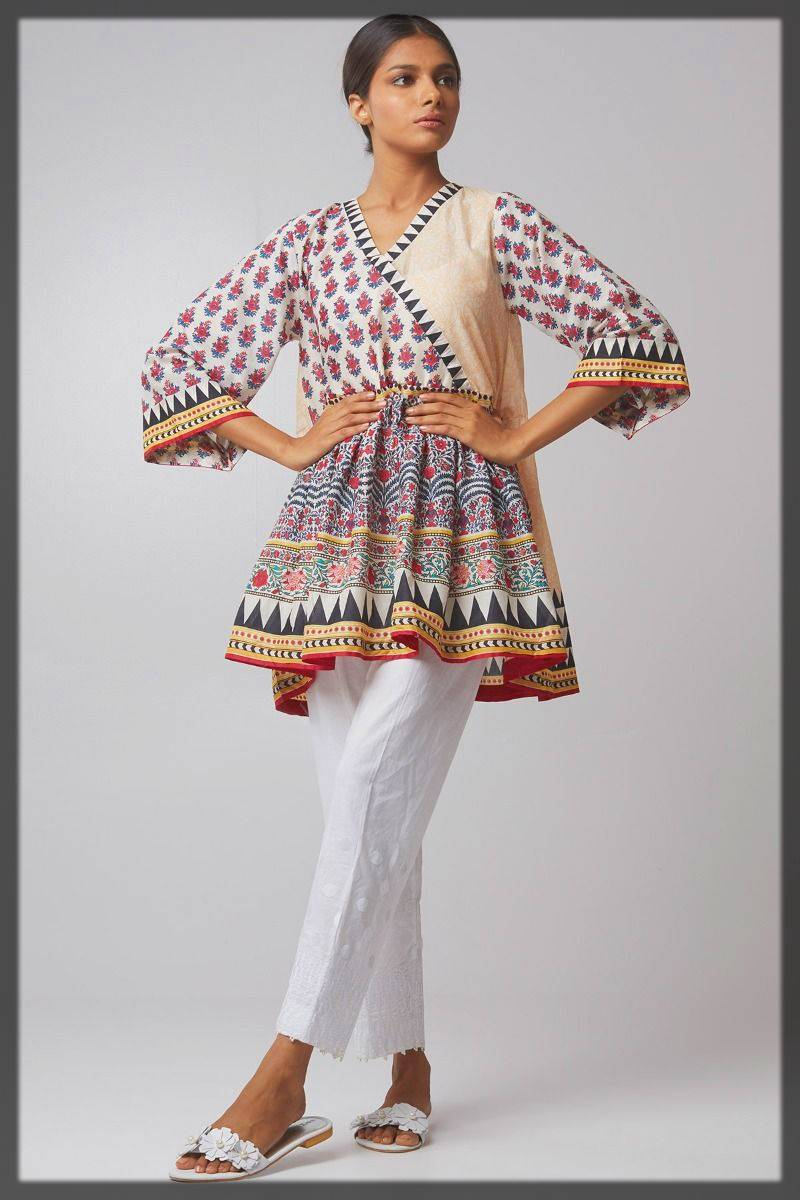 casual wear angrakha style dress designs for women