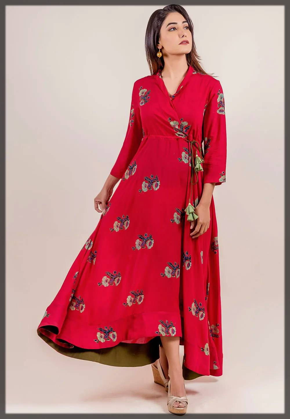casual wear angrakha style maxi dress and anarkali frock