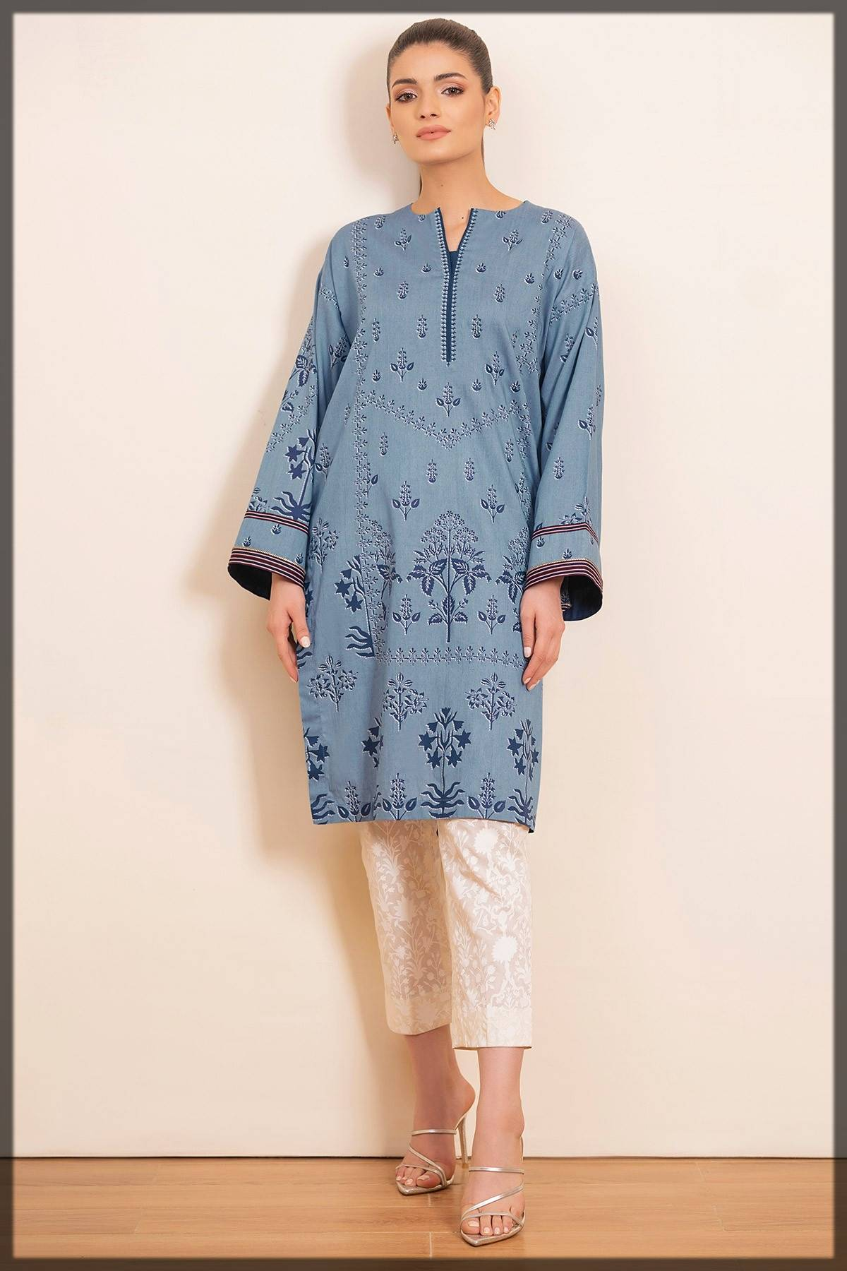 casual wear printed pret by alkaram fall winter collection