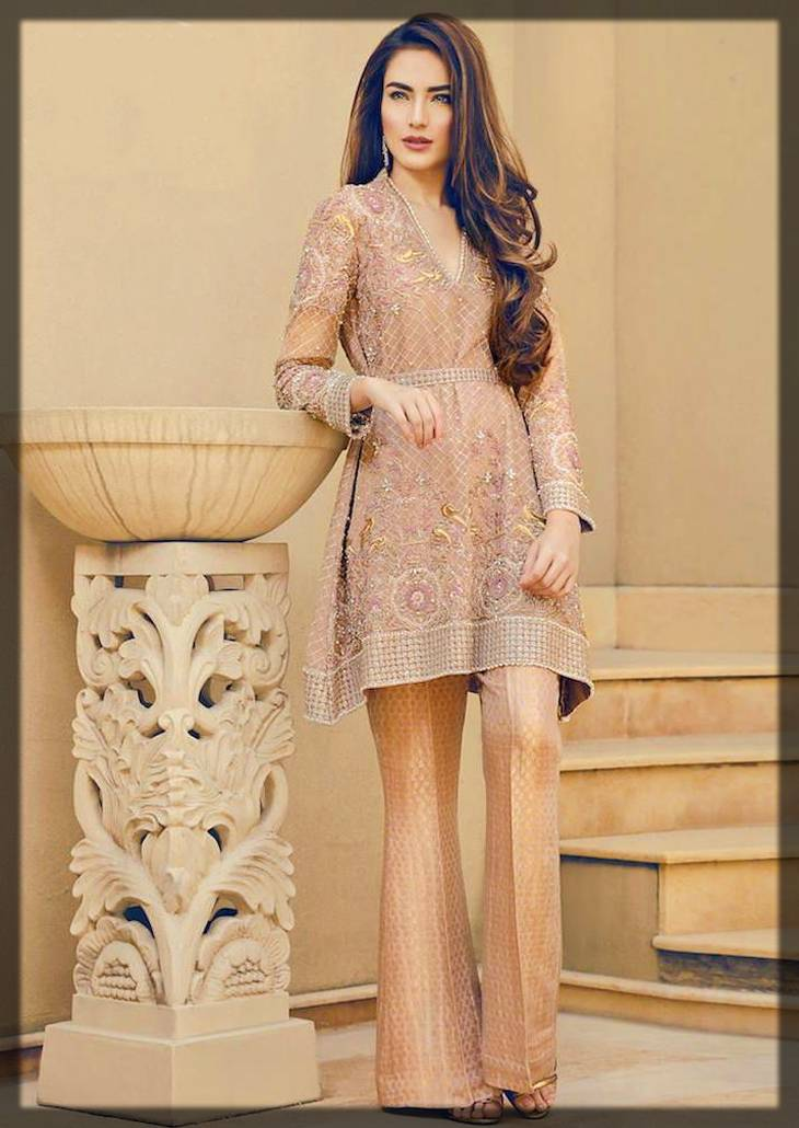 decent formal wear shalwar kameez with waist belt