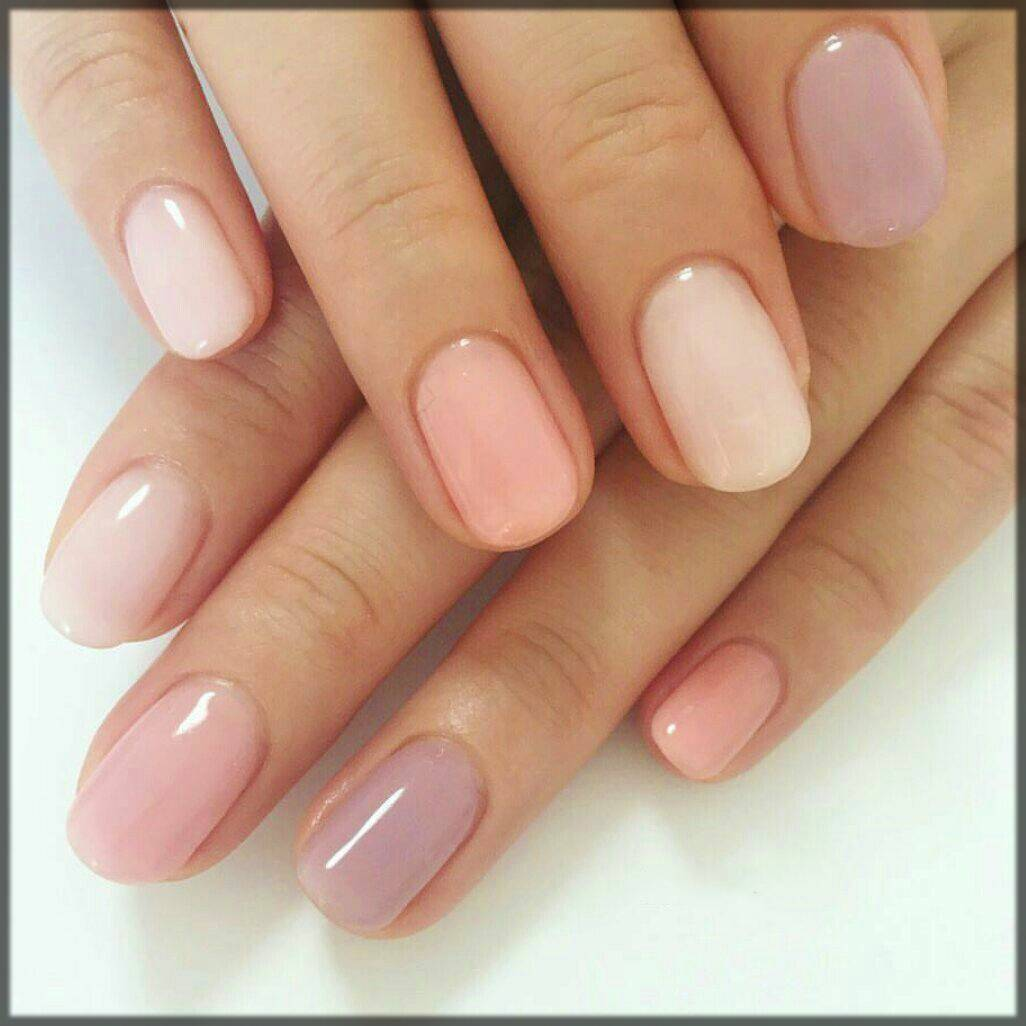 elegant light shaded nail art