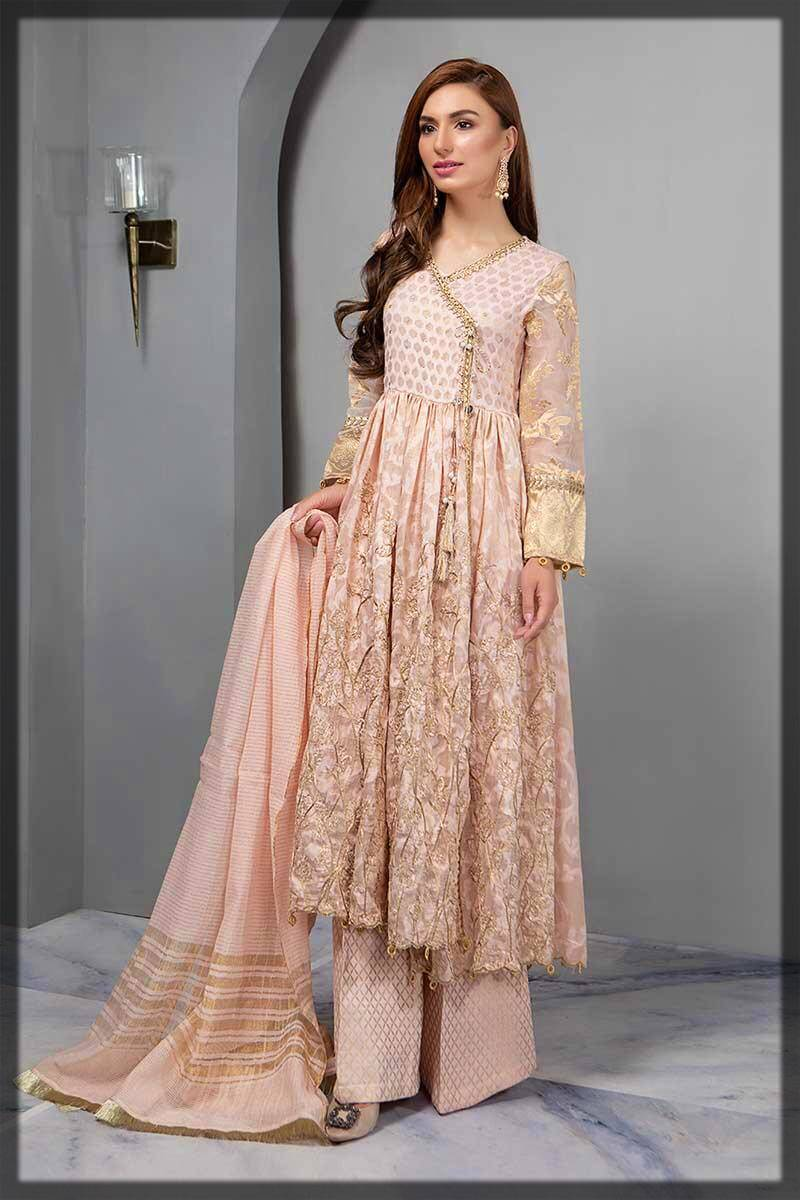 formal angrakha style dress design with trouser