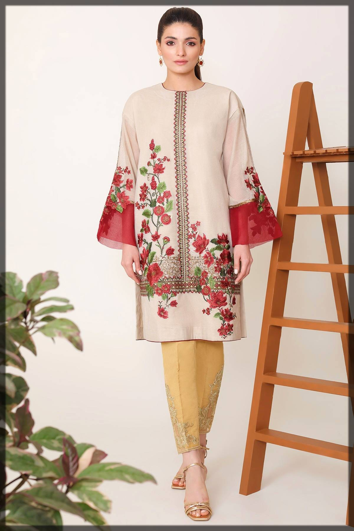 formal wear kurti by Alkaram fall winter collection