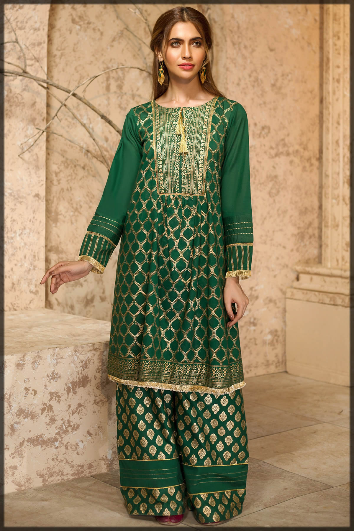 green gold foil in origins summer collection