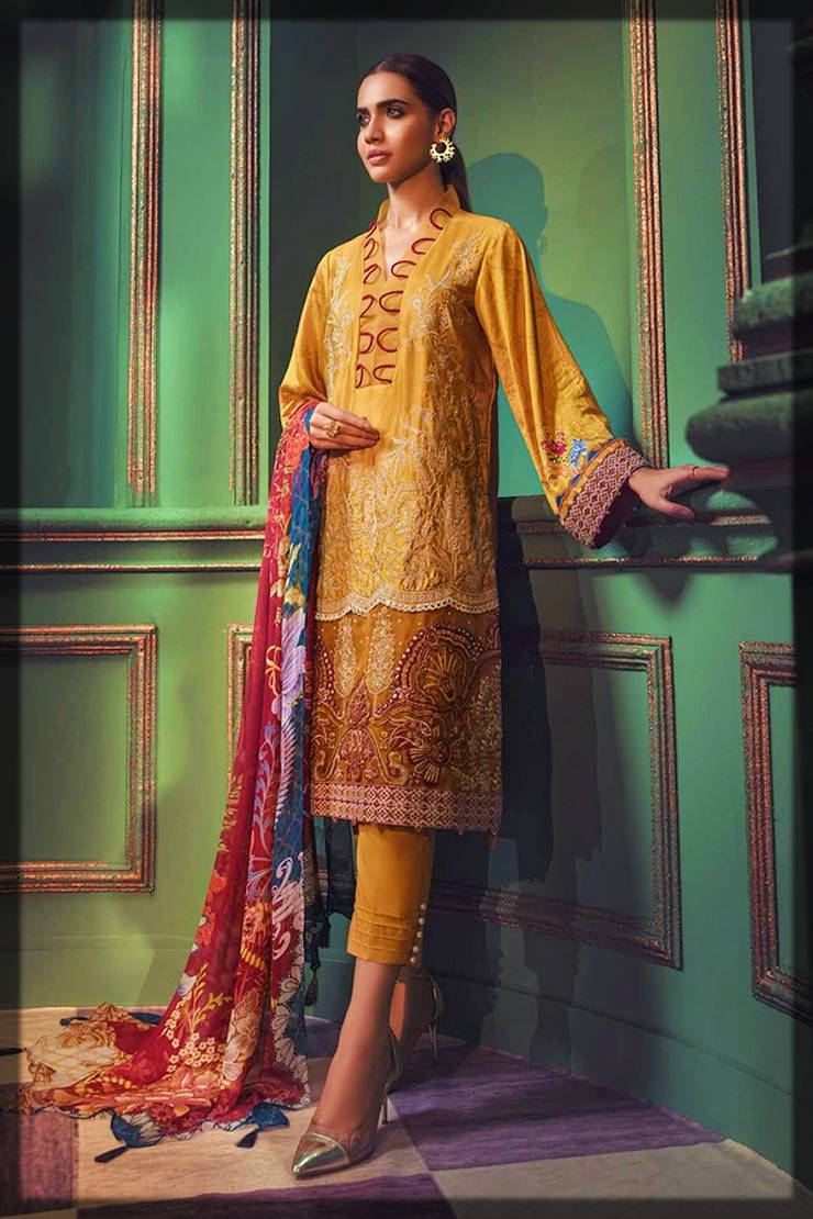 new Motifz winter partywear dresses collection