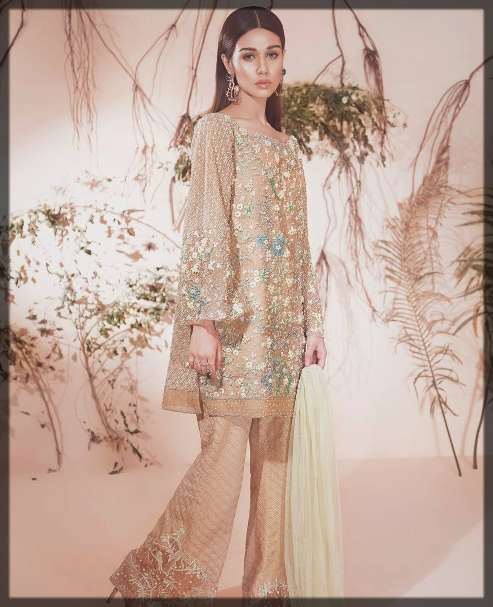 pakistani dress with bell bottom for weddings
