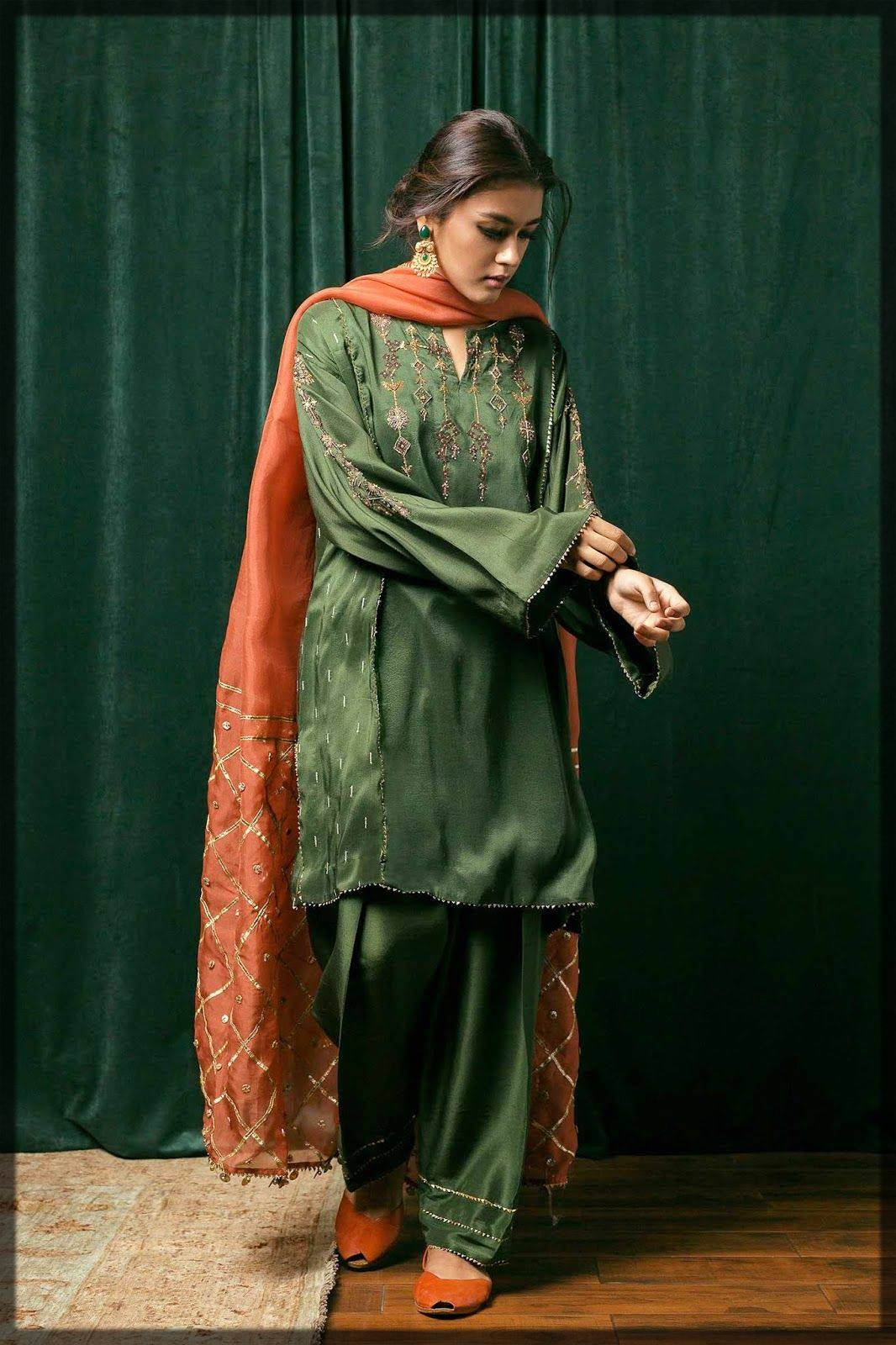 shalwar kameez with embroidery