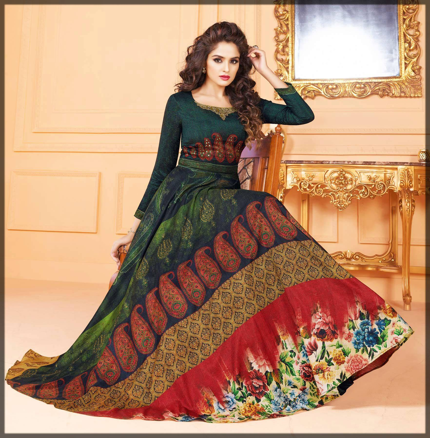 silk long maxi dress and anarkali frock for birthdays