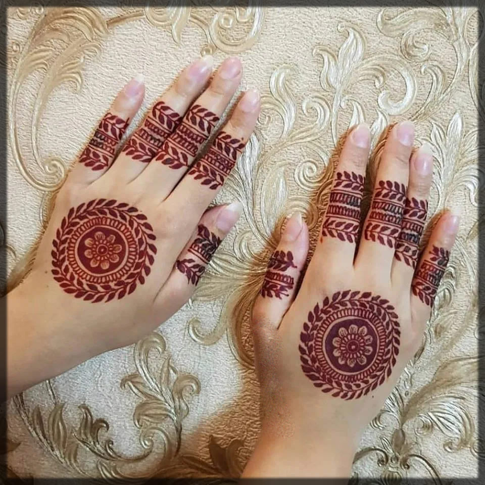 simple tikki mehendi