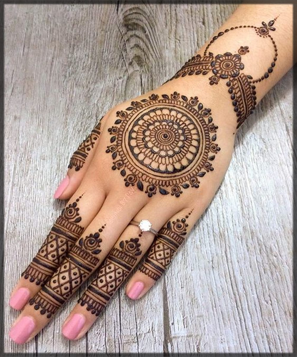 simple tikki mehndi