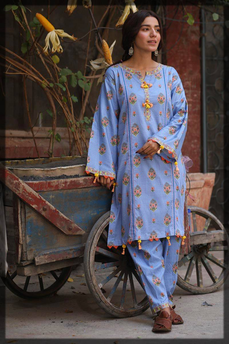 single unstitched shirt by Gul ahmed winter dress collection