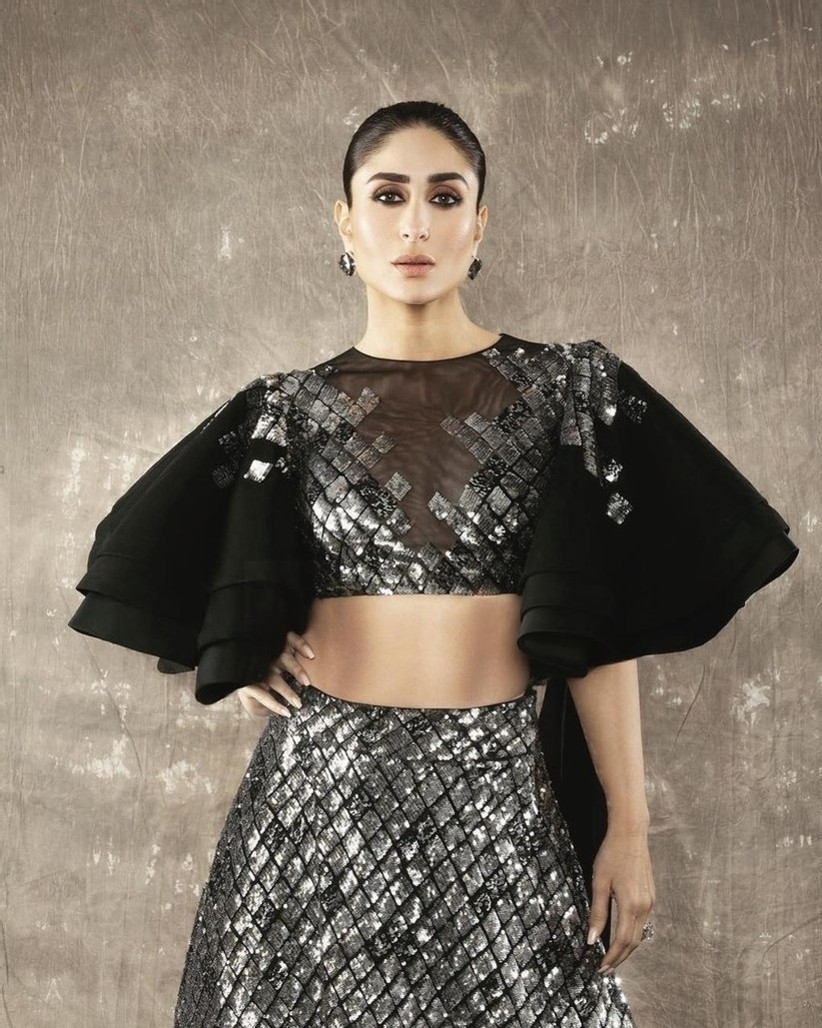 Bold and dramatic crop top