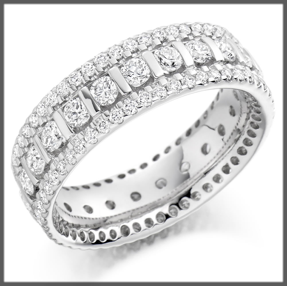 Eternity wedding rings collection