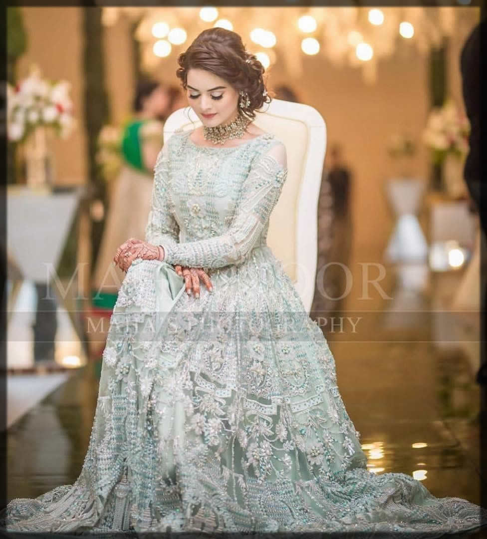 bridal walima net gown