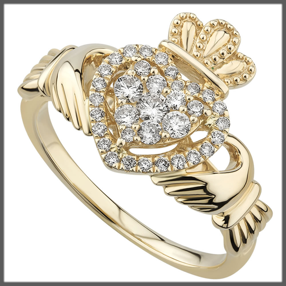gold wedding ring in heart shape
