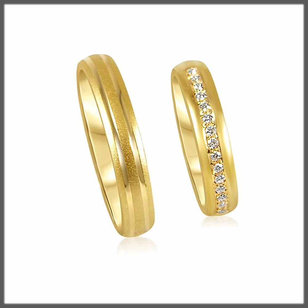 gold wedding rings collection
