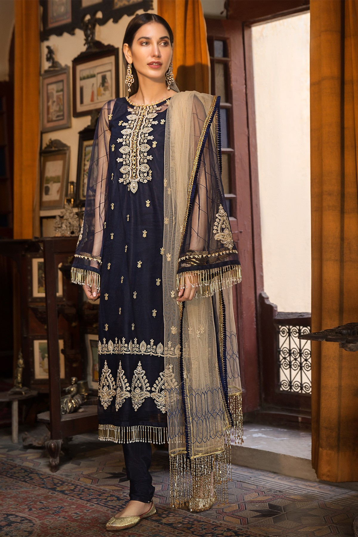 Embroidered Shirt and dupatta