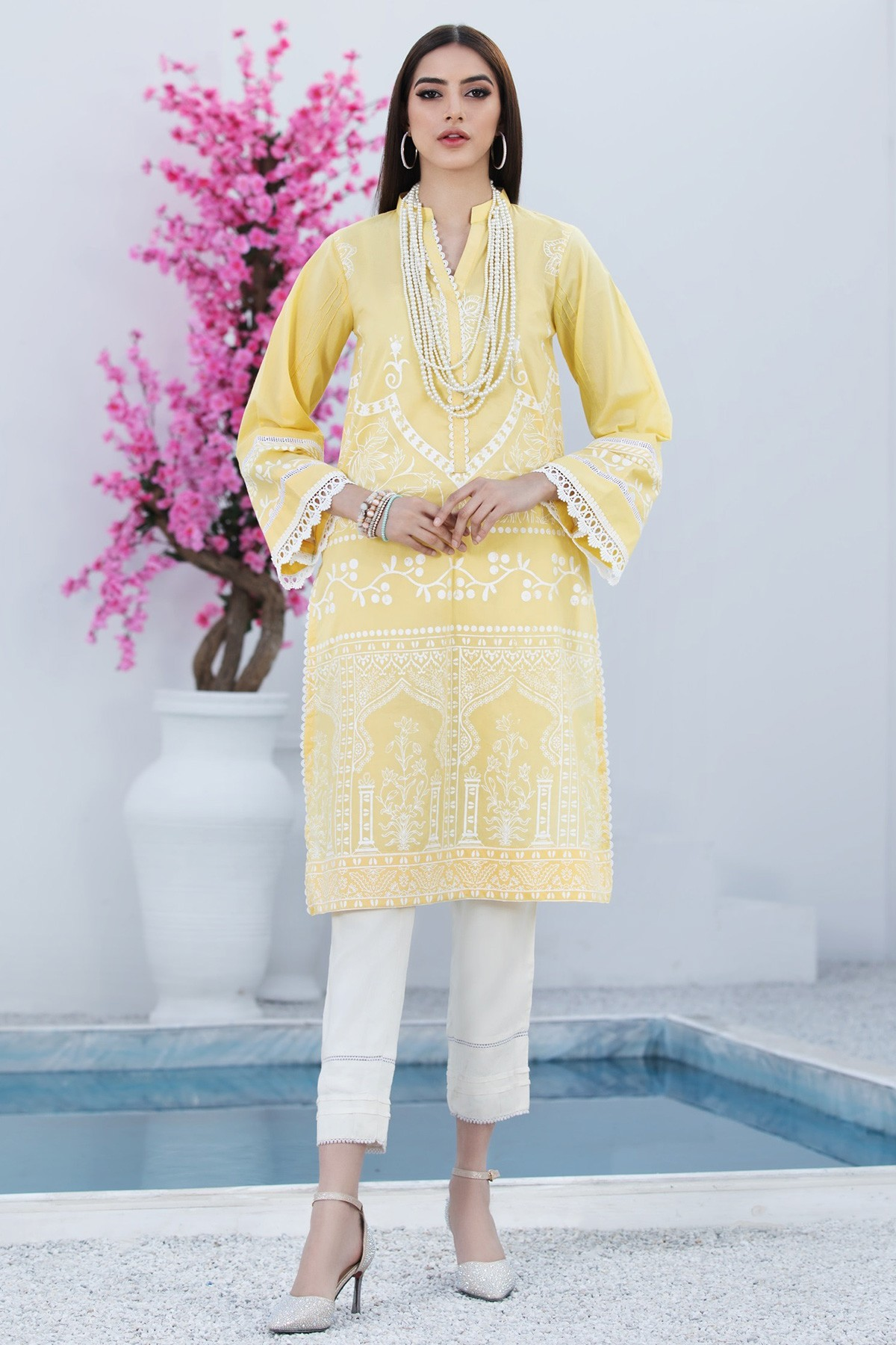 Pastel yellow shirt by origins summer collection