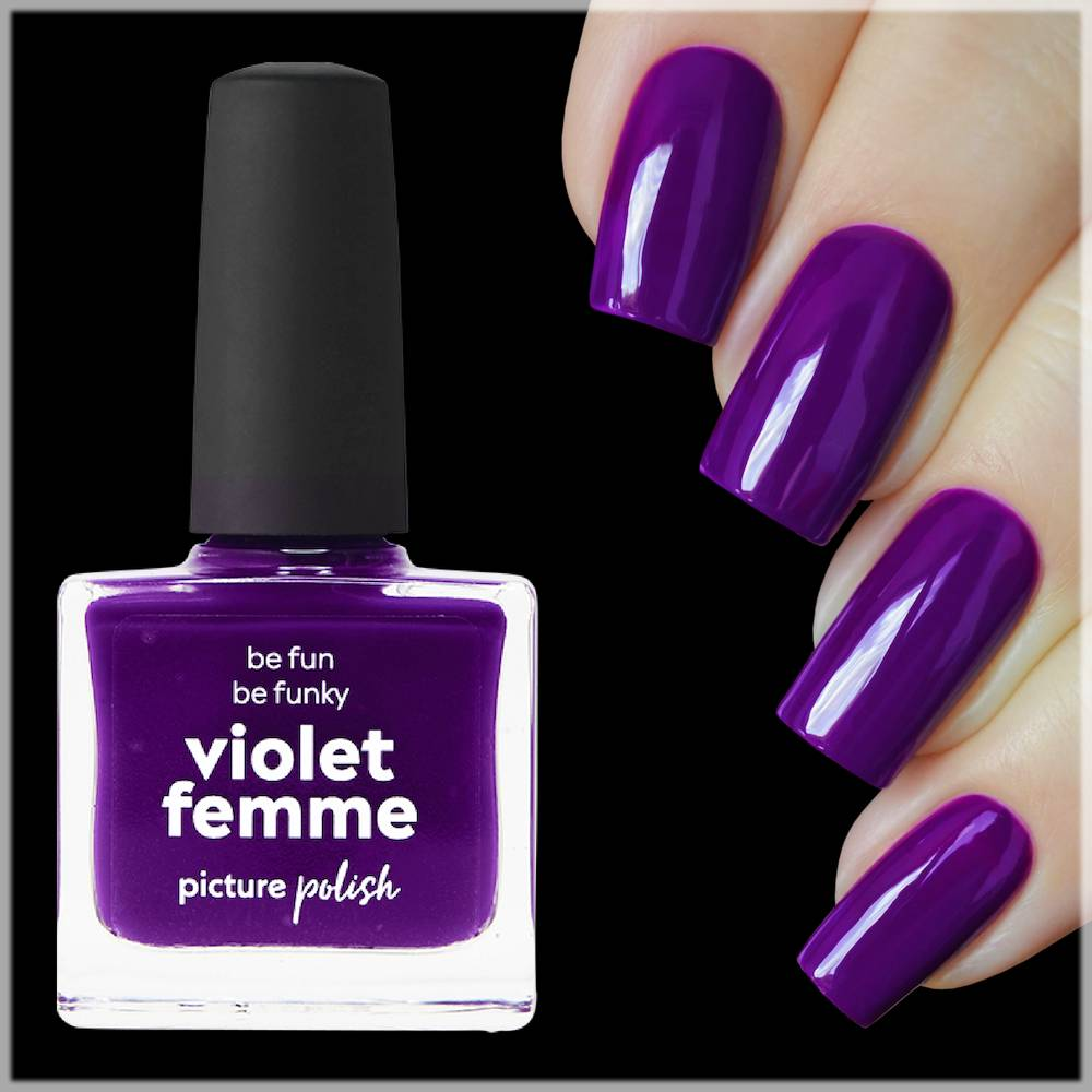 violet femme nailpolish for winter