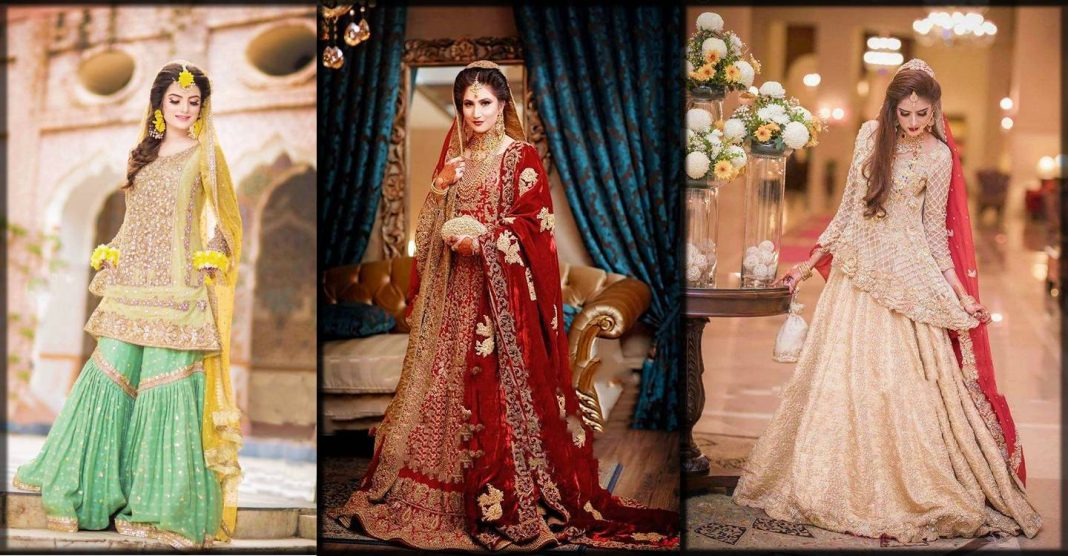 Latest pakistani winter wedding dresses for girls 2020