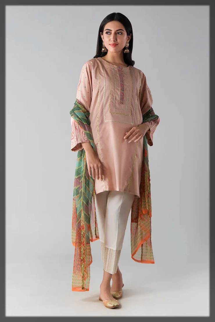 Ready made kurta dupatta - khaadi fall winter collection
