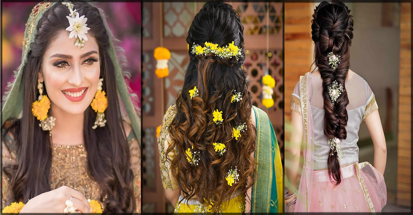 best bridal mehndi hairstyles