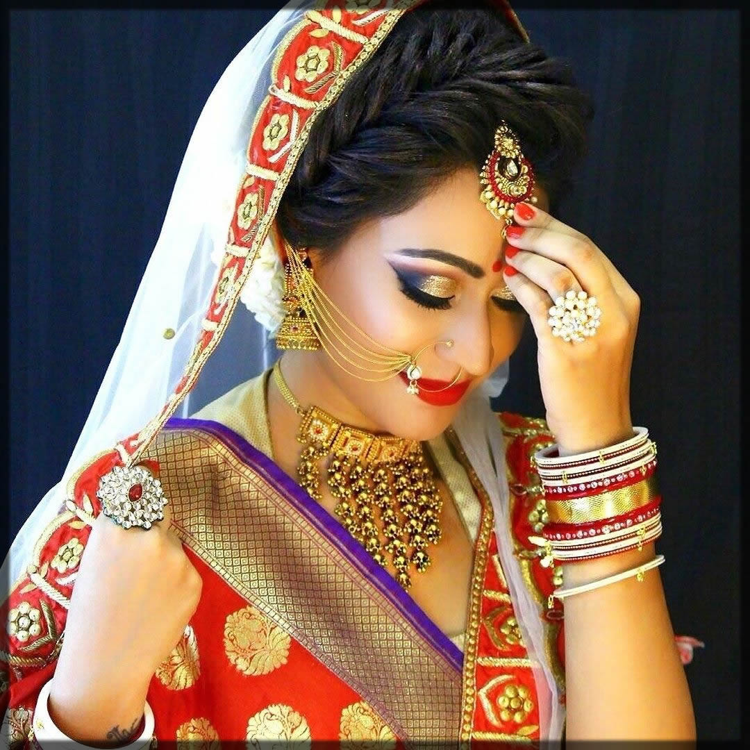 bridal looks with nath