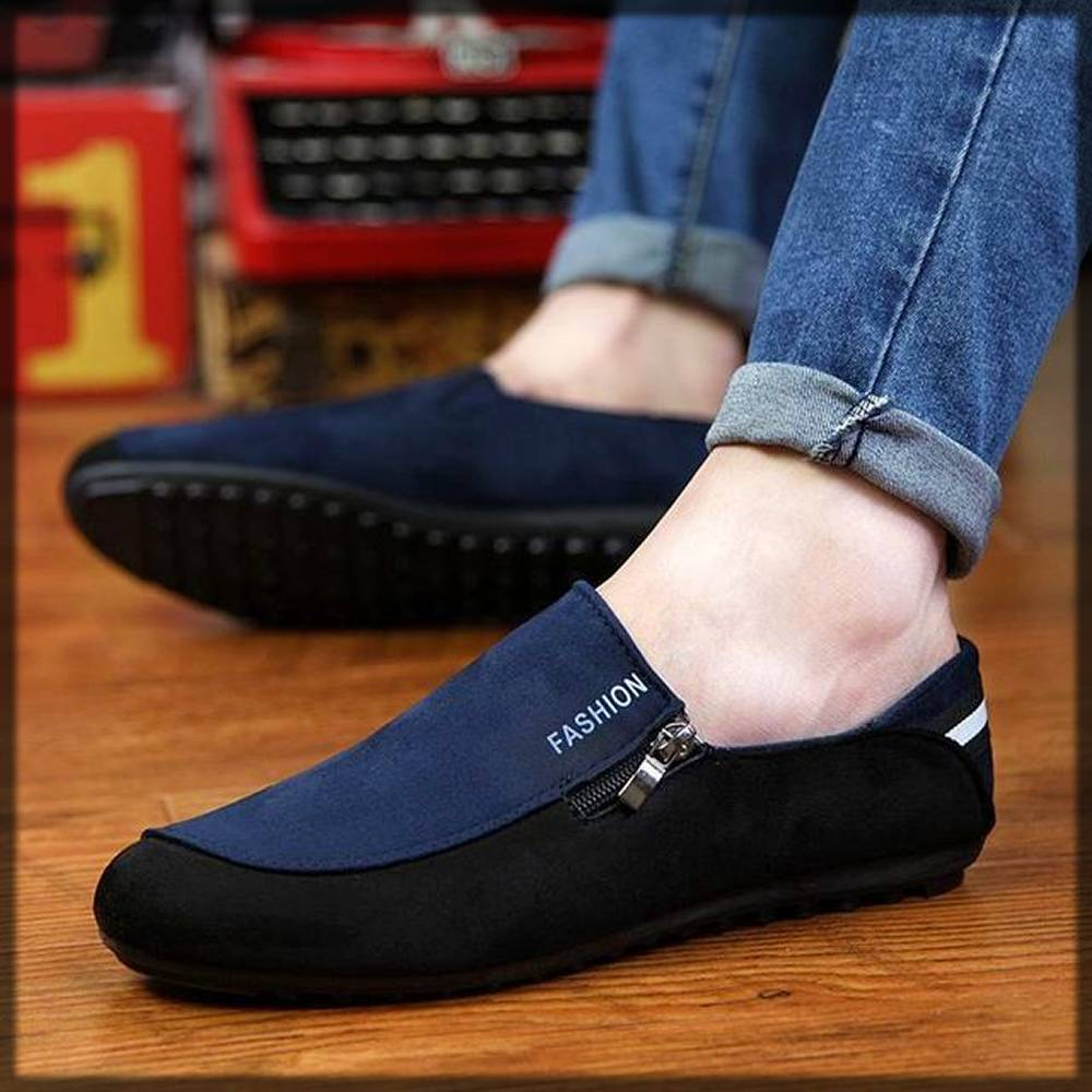 casual and fashionable winter wear shoes for men with zip