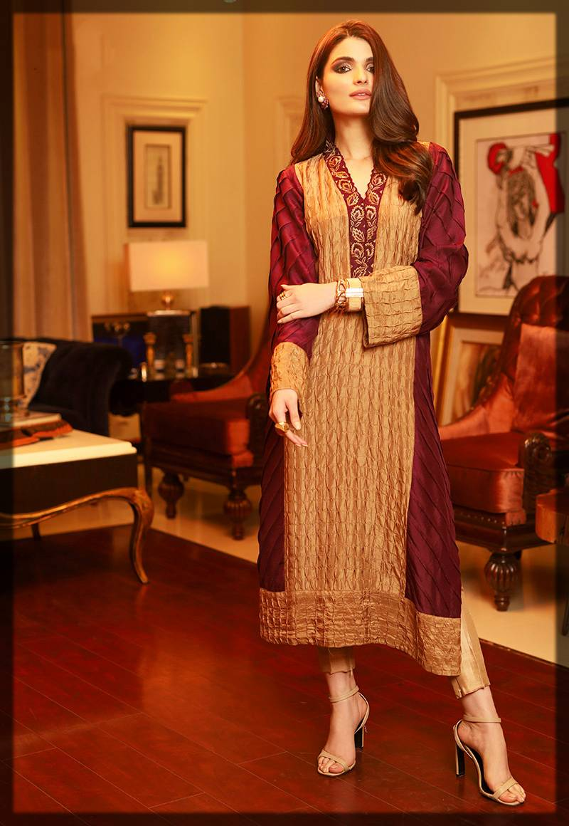 chic formal dress by asim jofa winter collection