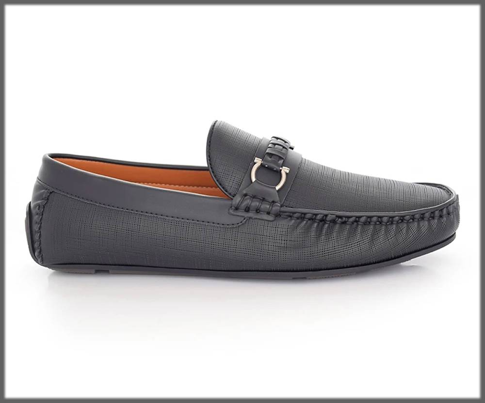 grey moccasins by hushpuppies