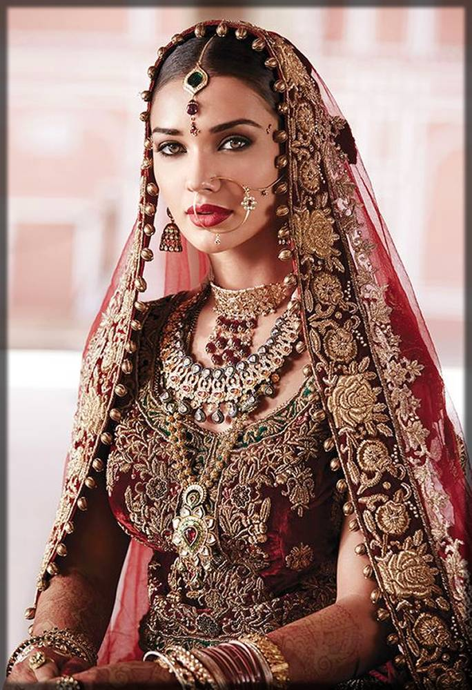 simple bridal free style dupatta