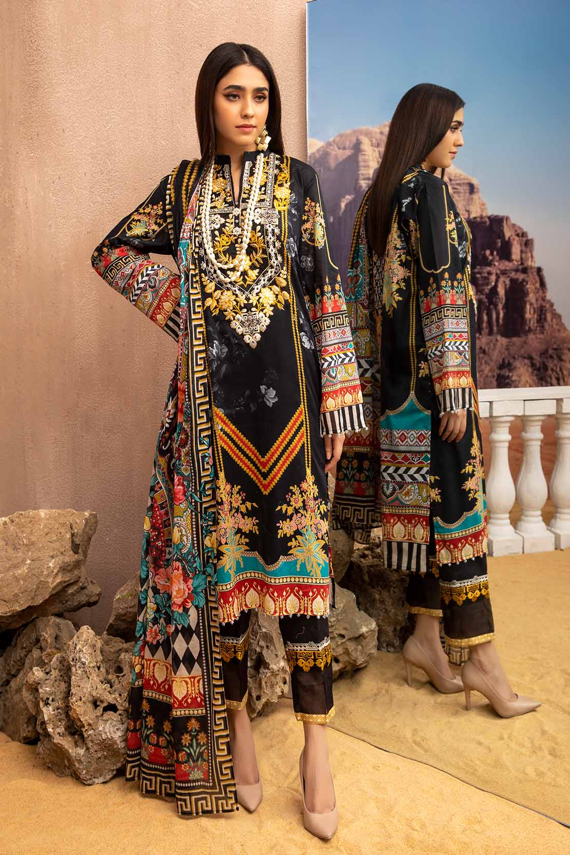 Embroidered Dresses by So Kamal