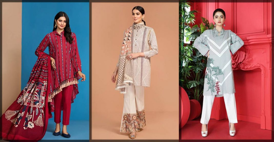 Latest Nishat Linen winter pret wear collection with prices