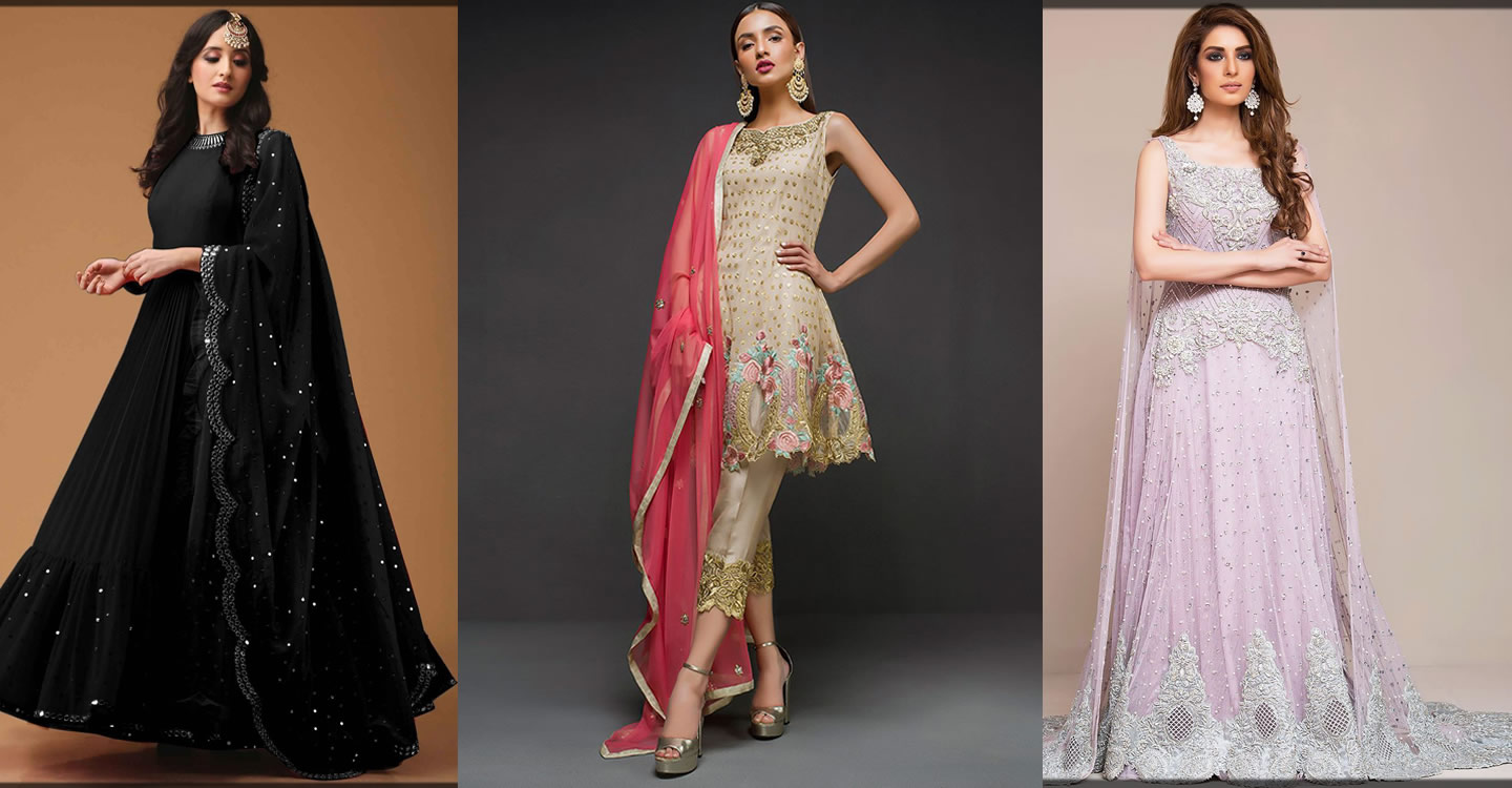 stylish Indian Pakistani frocks