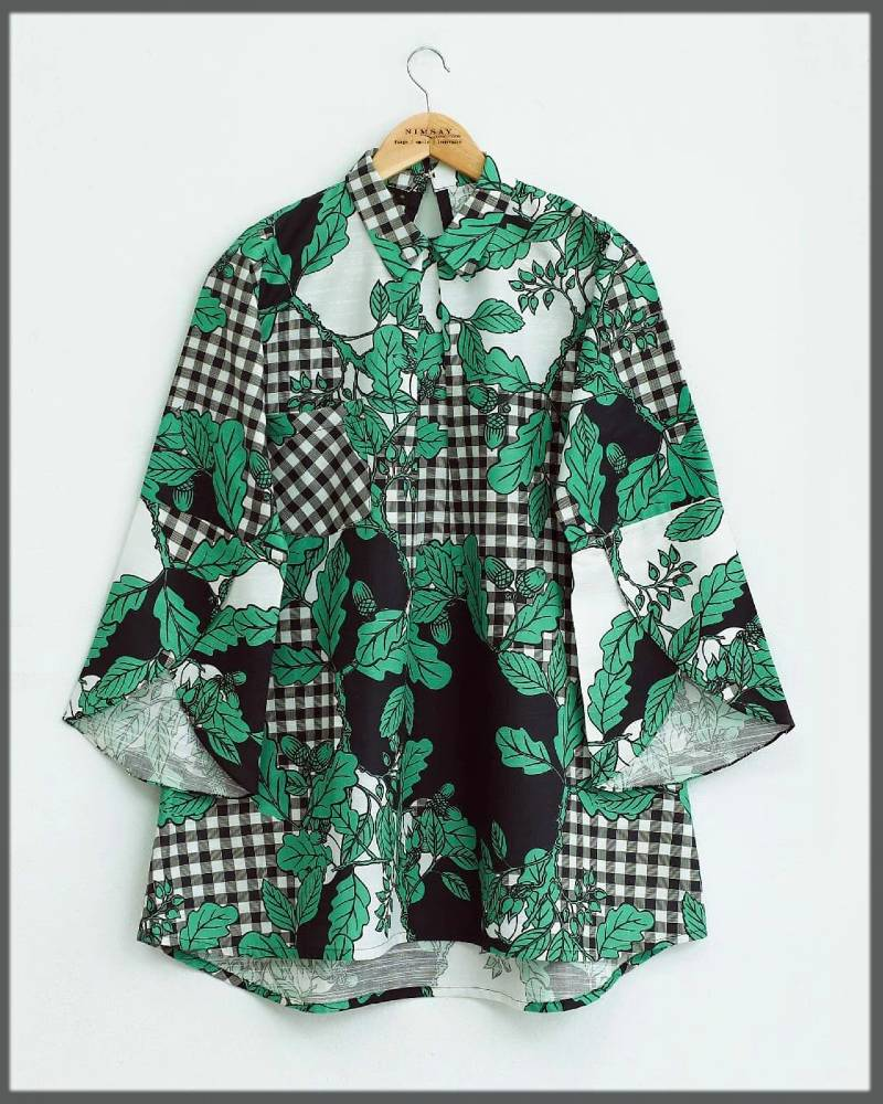 stylish top in green color for winter season