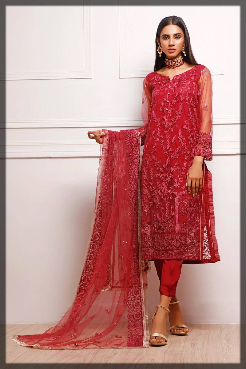 unstitched luxury 2 piece suit by nimsay fall winter collection
